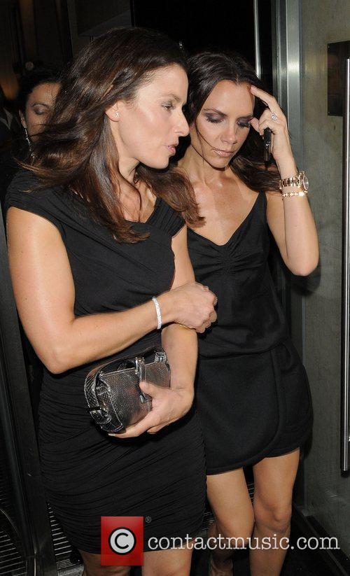 Victoria Beckham and Tana Ramsay arrive at Gordon...