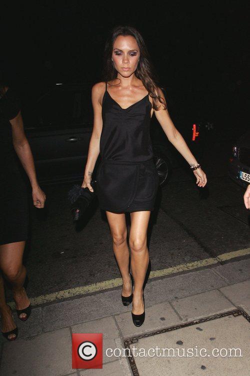 Victoria Beckham leaving Gordon Ramsay's restaurant Maze London,...