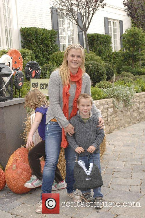 Alison Sweeney and her son Celebrities at Pottery...