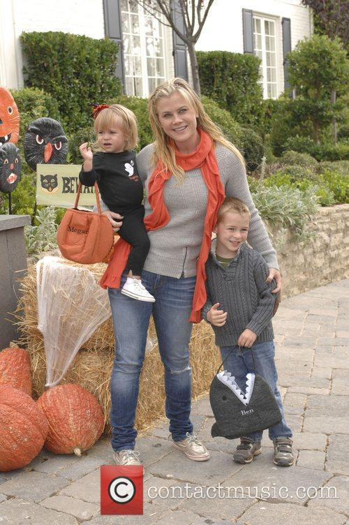 Alison Sweeney and her children Celebrities at Pottery...