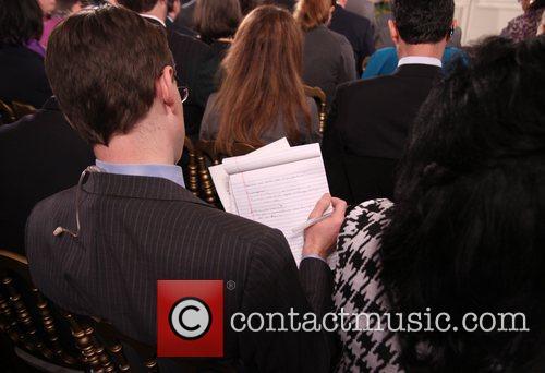 Democratic President Barack Obama holds a press conference...