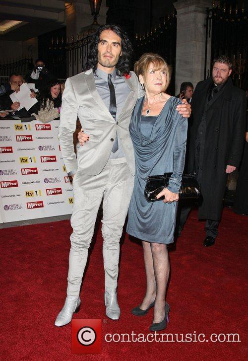 Russell Brand and mother Barbara Brand Britain Awards...