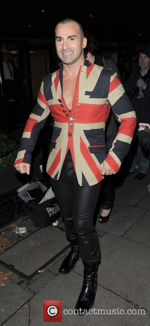 Louis Spence leaving the 'Pride of Britain Awards...