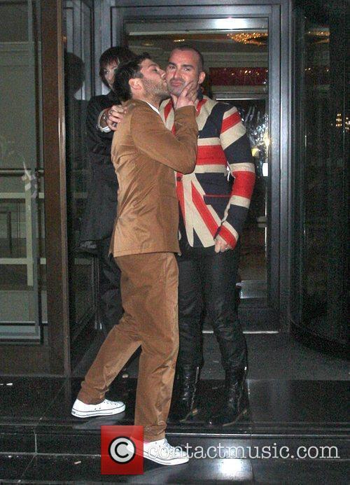 Matt Cardle and Louis Spence kiss Pride of...