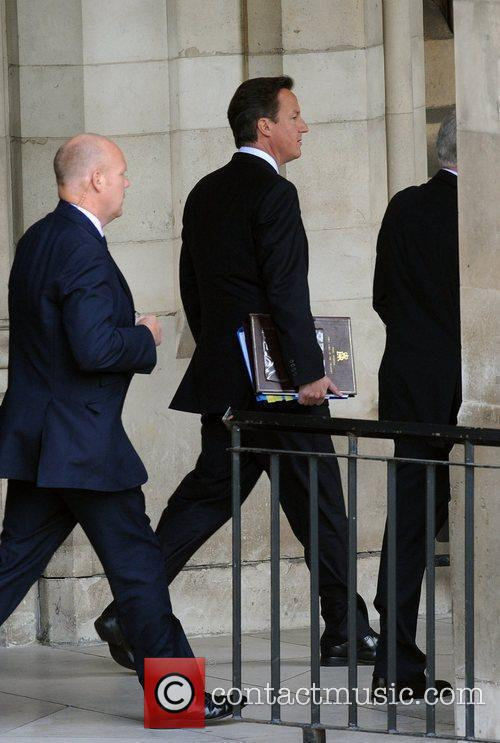 Arrives at the Houses of Parliament to attend...