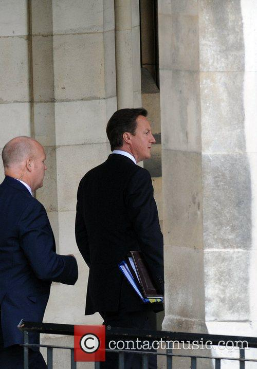 Prime Minister David Cameron  arrives at the...