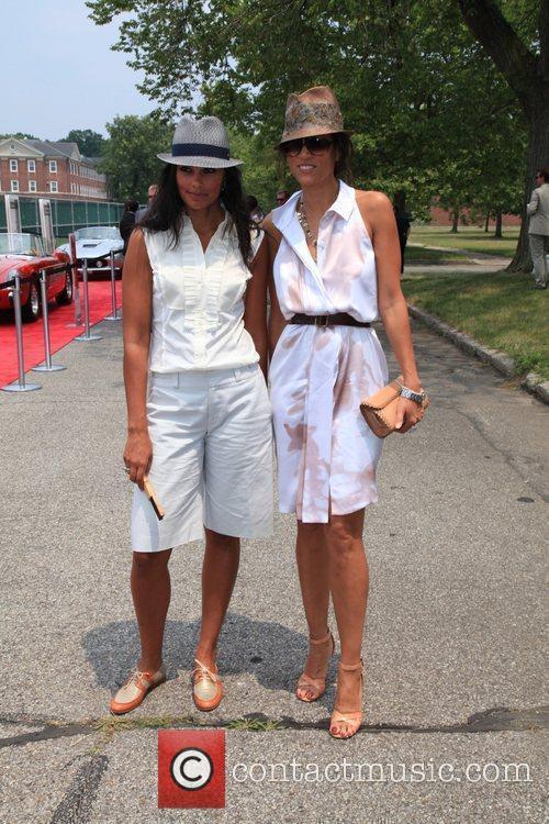 Designer Rachel Roy and model Veronica Webb at...