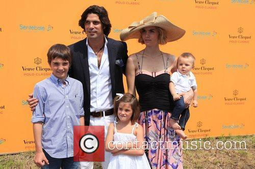 Polo player and model Nacho Figueras and family...