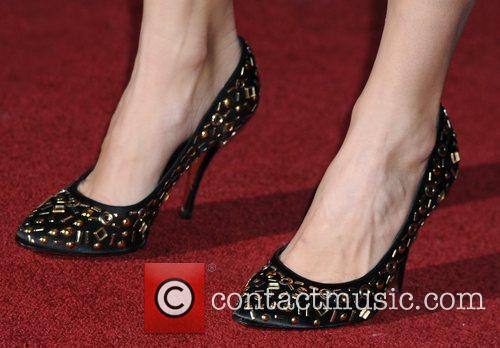 Kelly Brook's shoes The Prince's Trust Rock Gala...