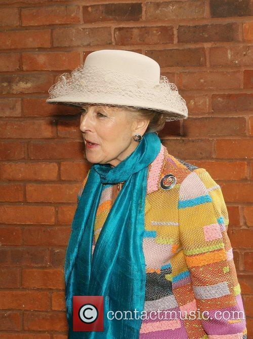HRH Princess Alexandra is greeted by Air Vice...