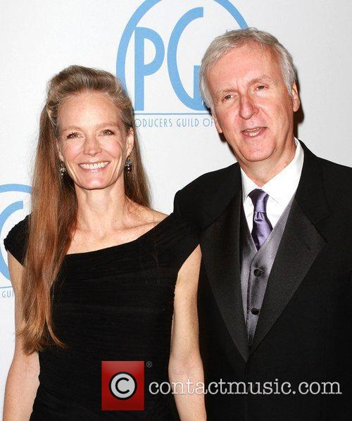 Suzy Amis and James Cameron 1