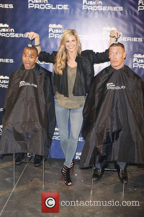 Tony Parker, Erin Andrews and John Cena 3