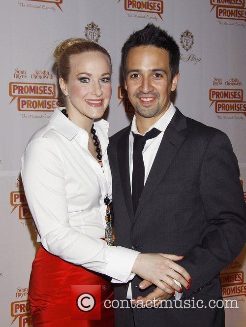 Katie Finneran and Lin-Manuel Miranda  Opening night...