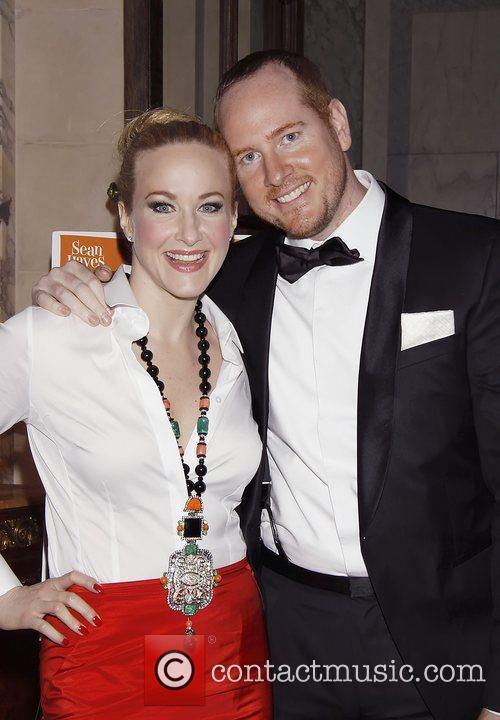 Katie Finneran and Darren Goldstein Opening night after...