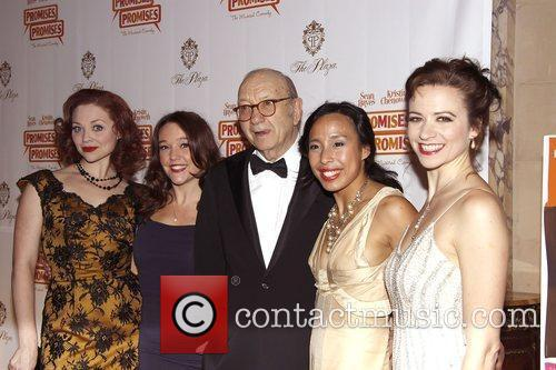 Neil Simon and cast  Opening night after...