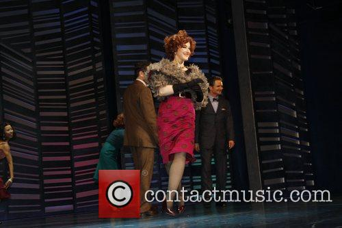 Katie Finneran on stage during the opening night...