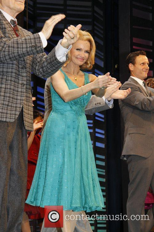 Kristin Chenoweth, Tony Goldwyn, Cast On Stage During The Opening Night For The Musical 'promises and Promises' At The Broadway Theatre - Curtain Call 9