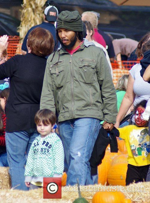 Ziggy Marley enjoys a family day out at...