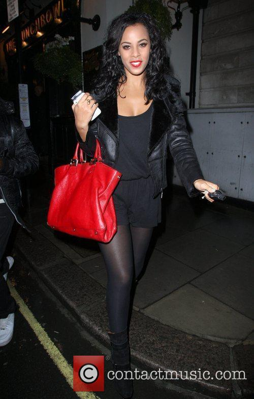 Rochelle Wiseman of The Saturdays,  leaving the...