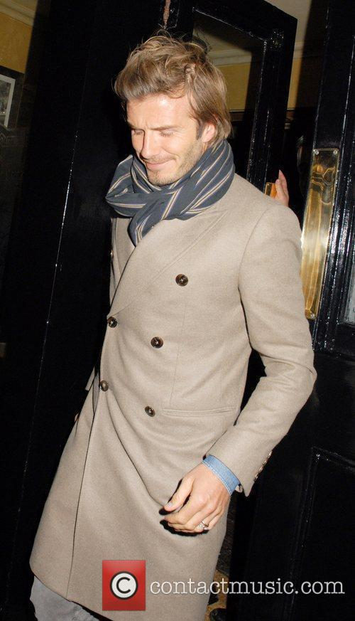 David Beckham  leaves The Punchbowl pub...