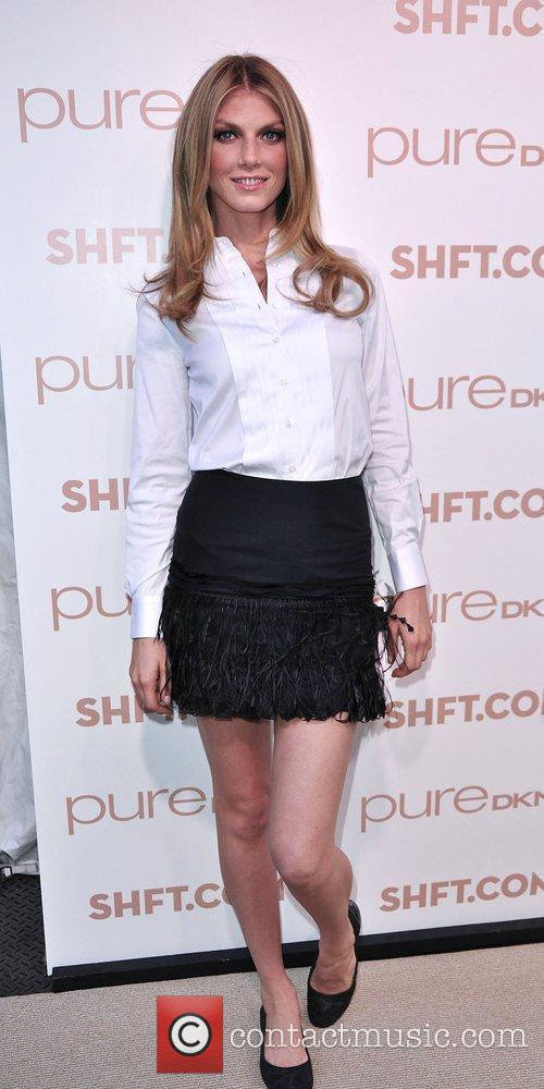 Angela Lindvall at the launch of pureDKNY and...