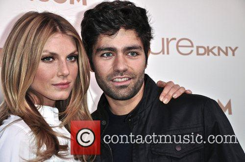 Angela Lindvall and Adrian Grenier at the launch...