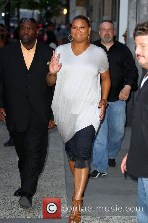 Queen Latifah with friends in Soho before an...