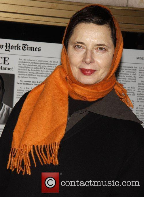 Isabella Rossellini Opening night of the Broadway play...