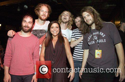 Rachael Ray with event headliners the band The...