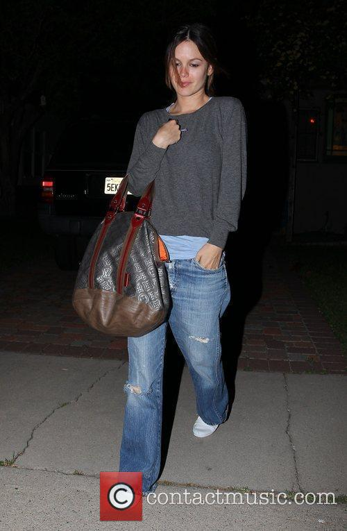 Leaving a friend's house in West Hollywood