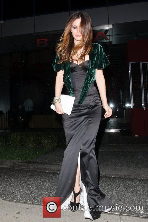 Rachel Bilson leaves Boa Steakhouse restaurant Los Angeles,...