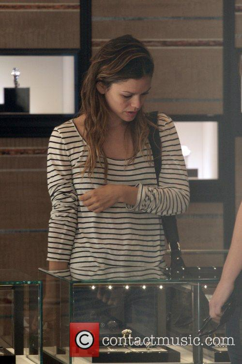 Rachel Bilson  out buying a new engagement...