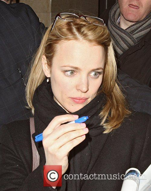 Rachel McAdams returning to her hotel mobbed by...