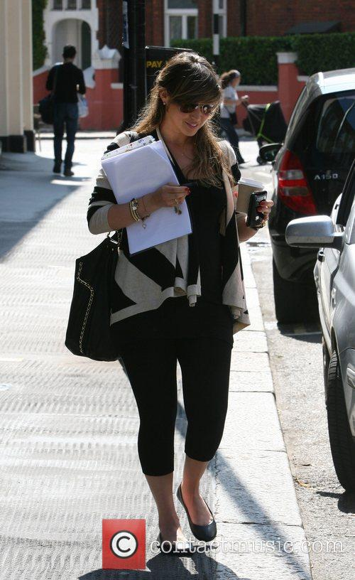 Rachel Stevens stops by a cafe in Primrose...