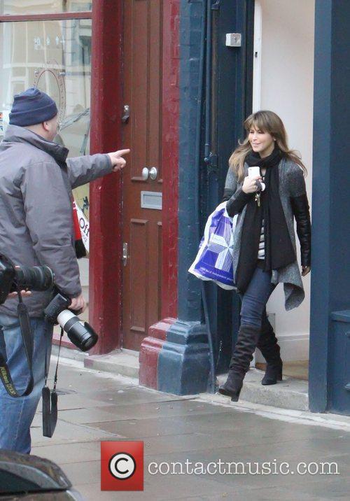 Rachel Stevens jokes around with a photographer as...