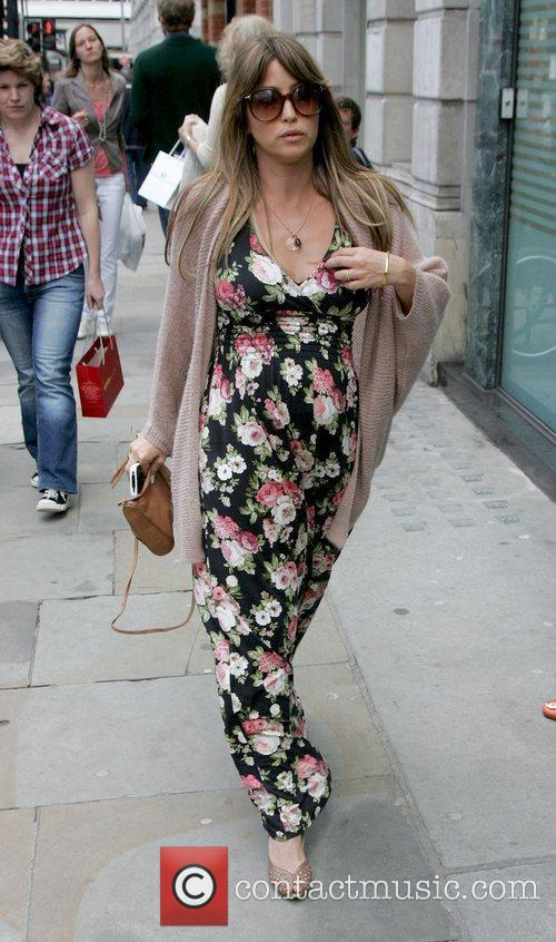 Pregnant Rachel Stevens out and about in West...
