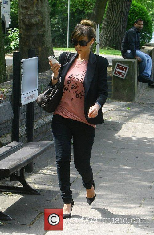 Pregnant Rachel Stevens going for lunch after leaving...