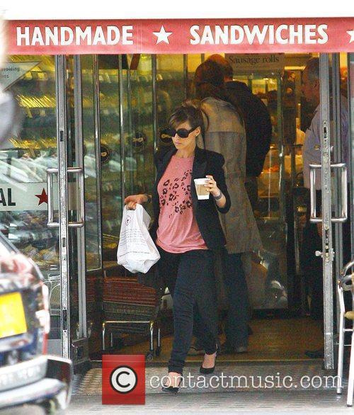 Pregnant Rachel Stevens leaving Pret A Manger after...