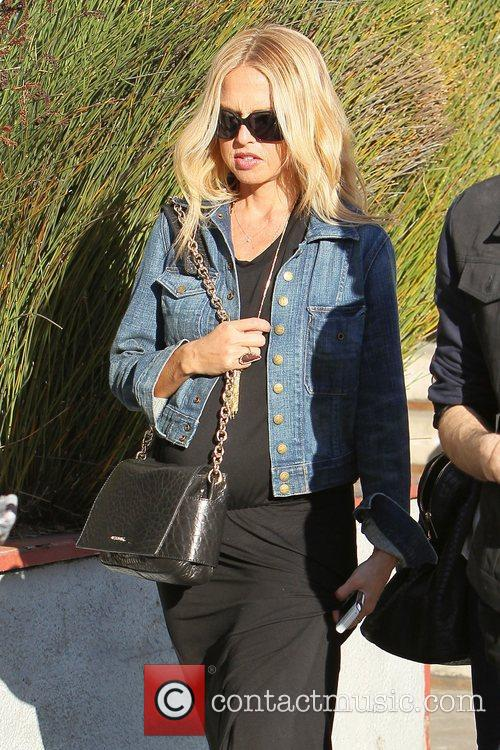 Heavily pregnant Rachel Zoe leaves Urth Cafe on...