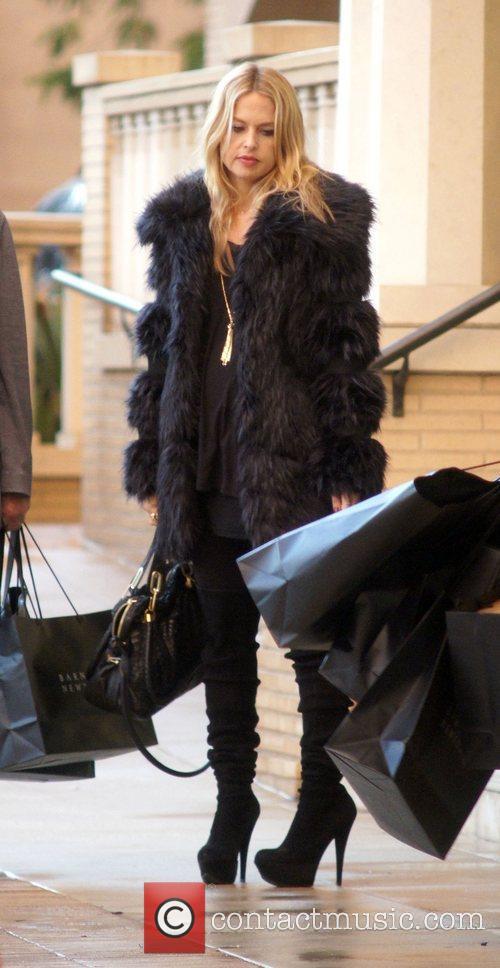 Rachel Zoe leaving Barneys of New York with...
