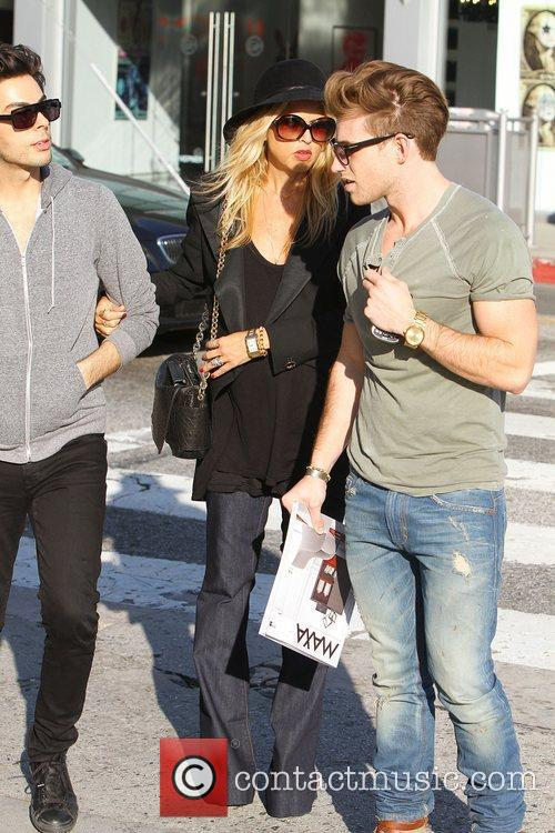Celebrity fashion stylist, Rachel Zoey, out shopping with...
