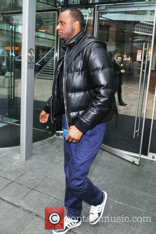 Manchester City player Patrick Viera leaving the Radisson...