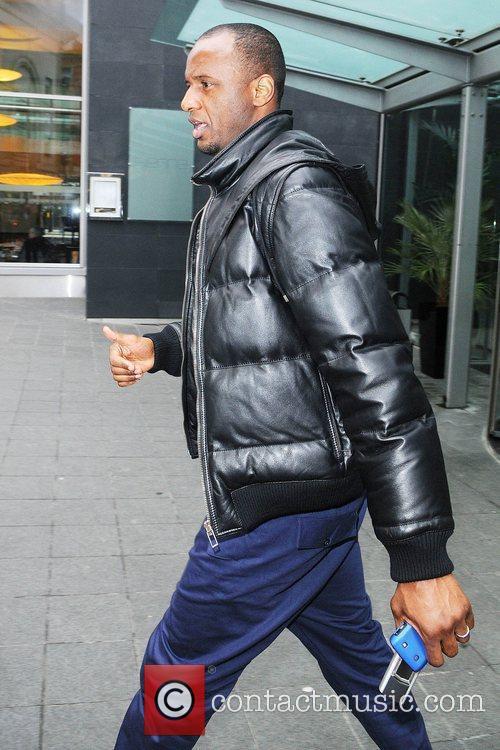 Manchester City player Patrick Viera leaving the Radisson...