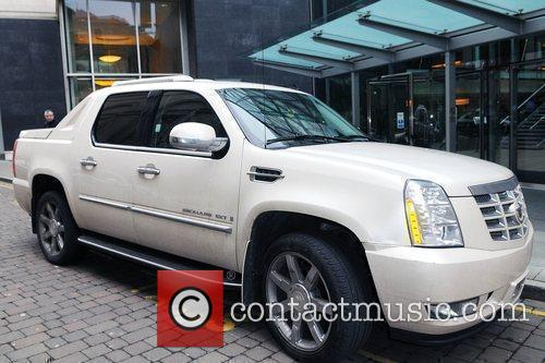 Manchester City Striker Benjani Mwaruwari's Car Outside The Radisson Edwardian Hotel