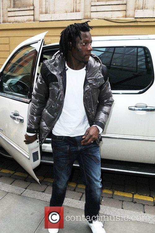 Manchester City striker Benjani Mwaruwari leaving the Radisson...