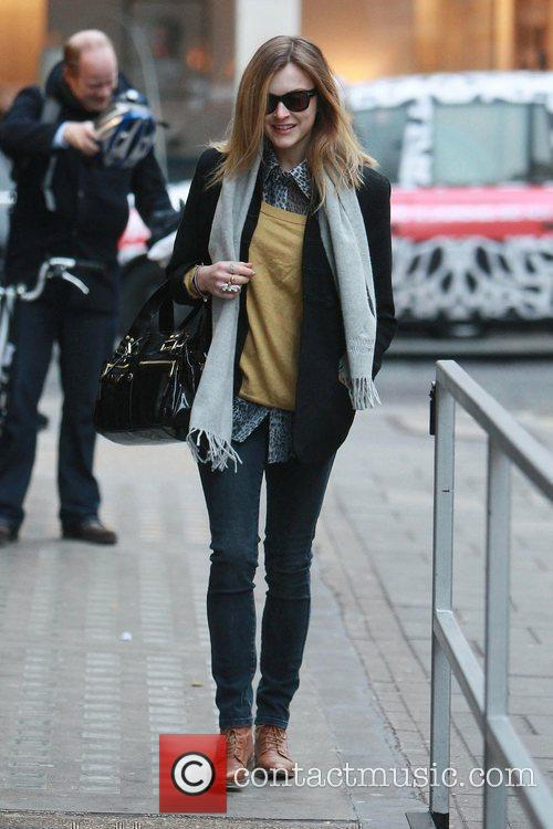 Arriving at the BBC Radio 1 studios