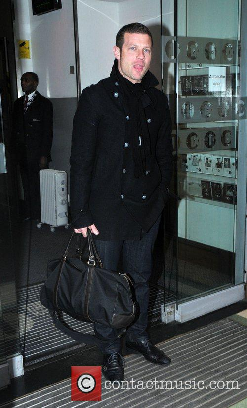 Dermot O'Leary arriving at the BBC Radio 1...