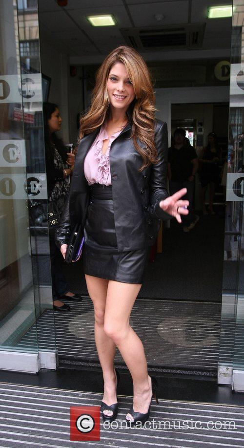 Ashley Green outside the Radio 1 building London,...
