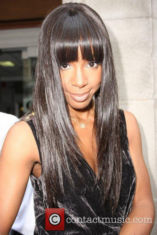 Kelly Rowland outside the Radio 1 building