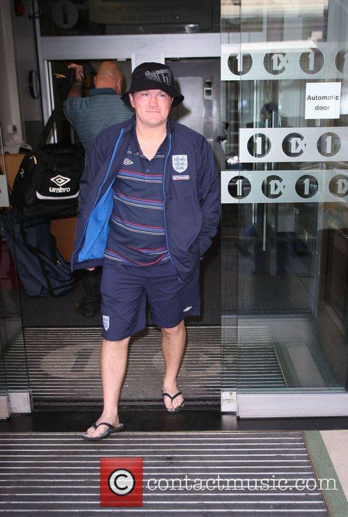 Ricky Hatton outside the BBC Radio 1 studios...